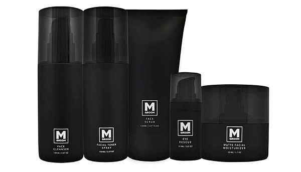 MGoom Skin -ihonhoitosarja. Puhdistusgeeli, kuorintavoide, kasvovesi, kosteusvoide ja silmänympärysvoide.