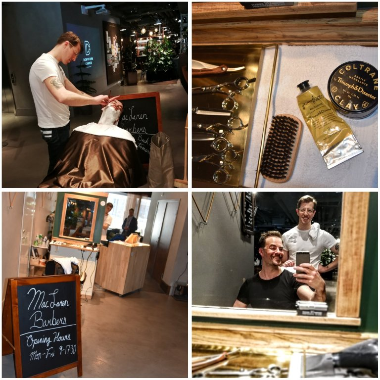 Huoliteltu ja viimeistelty. MacLaren Barbers X Downtown Camper, Brunkebergstorg 9